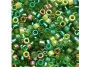 Miyuki Delica Seed Bead Mix Lot 11/0 Ever Green 7.2 Grams