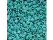 Miyuki Delica Seed Beads 11/0 'Opaque Turquoise Matte AB' DB878 7.2 Grams