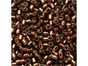 """Delica 11/0 Seed Bead """"Silver Lined Brown"""" Db150 7.2 Gr"""