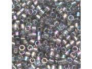 Miyuki Delica Seed Beads 11/0 Transparent Grey Iris DB107 7.2 Grams