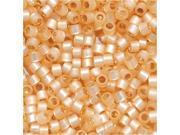 Delica 11/0 Seed Bead Sil. Line Beige Alabaster 621 8Gr