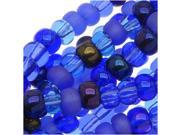 Czech Seed Beads 6/0 *Blue Tones* Mix Lot 1/2 Hank