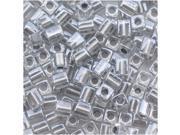 "Miyuki 4mm Cube Beads ""Metallic Silver Lined"" #242 10Gr"