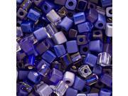 Miyuki 4mm Square Cube Bead Mix Cobalt Blue Medley 10Gr