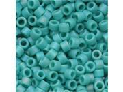 Delica Seed Bead 10/0 Op Matte Turquoise AB Dbm0878 8Gr