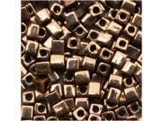 """Miyuki 4mm Cube Beads """"Metallic Bronze"""" #457 10 Gr"""