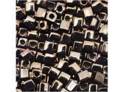 Miyuki 4mm Cube Beads Metallic Gunmetal Iris #458 10 Gr