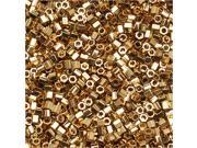 Delica Seed Bead Hex 15/0 24K Lt Gold Plated Dbsc034 4G