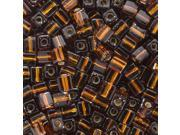 """Miyuki 4mm Cube Beads """"Silver Lined Brown"""" #5 10 Gr"""