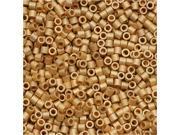Delica Seed Bead 15/0 Matte Metal Br 24K Gold Dbs331 4G