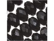 Czech Fire Polish Glass Beads 9mm Rondelle Jet Black 12