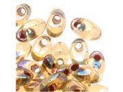 Miyuki Long Magatama Seed Beads - 4x7mm Garnet Lnd Transparent Lt Topaz AB 8.5g