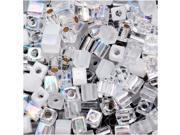 Miyuki 4mm Square Cube Bead Mix Lot Crystal Medley 10Gr