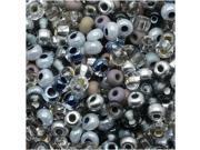 Czech Seed Beads 8/0 Silver Wares Mix (1 Ounce)