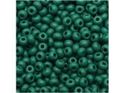 """Czech Seed Beads 8/0 """"Grass Green"""" Opaque (1 Ounce)"""
