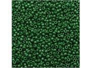 Toho Round Seed Beads 15/0 #47H - Opaque Pine Green (8 Grams)