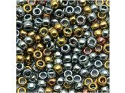 Toho Round Seed Beads 8/0 #721 - Galvanized Blue Gold (8 Grams)