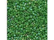 Miyuki Delica Seed Beads 11/0 - Opaque Green AB DB163 7.2 Grams