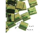 Miyuki Tila 2 Hole Square Beads 5mm - Olive Green Gold Luster 7.2 Grams