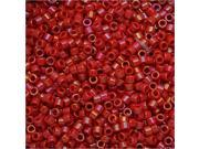 Miyuki Delica Seed Beads 11/0 - Opaque Red Luster DB214 7.2 Grams