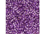 Miyuki Delica Seed Beads 11/0 - Silver Lined Lavender Dyed DB1343 7.2 Grams