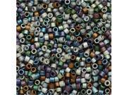 Miyuki Delica Seed Beads Mix Lot 11/0 Matte Heavy Metals 7.2 Grams