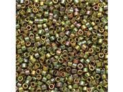 Miyuki Delica Seed Beads 11/0 - Green Gold AB DB508 7.2 Grams