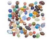 1/2 Pound Lot Lampwork Glass Beads Mix Assorted Styles & Sizes (8 Ounces) 9SIA1B62158139