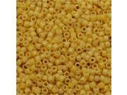 Miyuki Duracoat Delica, Japanese Seed Beads 11/0, 7.2g, Opaque Banana Yellow