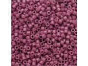 Miyuki Duracoat Delica, Japanese Seed Beads 11/0, 7.2g, Opaque Pansy Purple