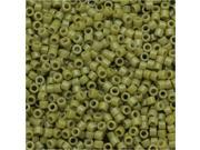 Miyuki Duracoat Delica, Japanese Seed Beads 11/0, 7.2g, Opaque Cactus Green