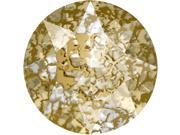 Swarovski Crystal, #1088 Xirius Rnd Stn Chtns ss39, 6 Pcs, Crystal Gld Patina F