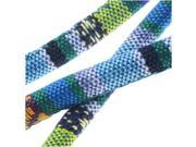 Multi-Colored Cotton Cord, Round Woven Strands 6mm, 3 Feet, Blue / Green Mix