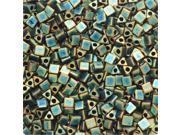 Miyuki, Sharp Triangle Beads 10/0, 7.5 Grams, Matte Metallic Patina Iris