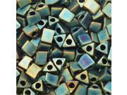 Miyuki, Sharp Triangle Beads 5/0, 7 Grams, Matte Metallic Patina Iris