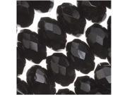 Czech Fire Polished Glass Beads 9mm Rondelle Jet Black 12 9SIA1B60FF6371
