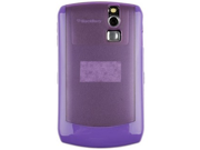 Rubberized Plastic Rear with TPU Cover Case Purple and Transparent Purple For BlackBerry Curve 8300 Series