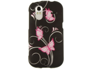 Reinforced Plastic Phone Protector Case Cover Purple Butterfly For HTC Amaze