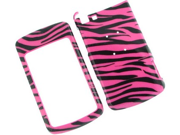 Two Piece Plastic Design Phone Cover Case Hot Pink Zebra For Motorola Stature i9 9SIA1BB0CD8908