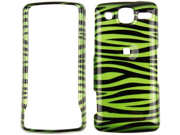 Snap On Plastic Phone Design Case Cover Green and Black Zebra For LG eXpo GW820