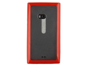 Aquaflex Red Plastic Phone Case Cover with Holster and Screen Protector Combo for Nokia Lumia 900