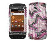 Hard Plastic Diamante Twin Stars Phone Protector for Samsung Sidekick 4G T839