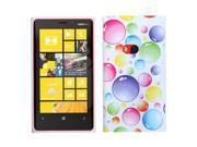 Rainbow Bigger Bubbles Design TPU Plastic Gummy Skin Phone Case for Nokia Lumia 920 9SIA0PG1N95764