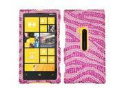 Hard Plastic Diamante Hot Pink Zebra Skin Phone Protector for Nokia Lumia 920 9SIA0PG1N94325