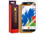 Skinomi® TechSkin - Samsung Galaxy S7 Edge (Full Coverage) Screen Protector + Gold Carbon Fiber Full Body Skin w/ Lifetime Warranty / Front & Back Wrap Clear Fi 9SIA1BB3VT8367