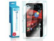Droid RAZR MAXX HD Screen Protector + Back Cover (2-Pack), ILLUMI AquaShield Full Coverage Back and Front Screen Protector for Droid RAZR MAXX HD HD Clear Anti-Bubble Film - Lifetime Warranty