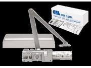 CRL PR90 Aluminum Finish Adjustable Spring Power Size 1-6 Cast Iron Surface Mount Door Closer