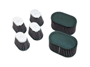 K&N Engineering Custom Clamp-On Air Filters - Oval - Rubber End Cap 9SIA9H23ZB4027