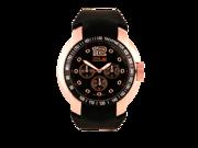 Swiss Hunter SH2453GLBK Men's Fashion Watch Black Dial  Gold Case