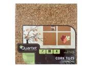 Quartet Natural Cork Tiles, 6 Inch x 6 Inch, Modular, Pack of 4 (100T)
